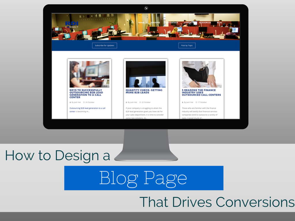 How to Design an Awesome Blog Page that Drives Conversions